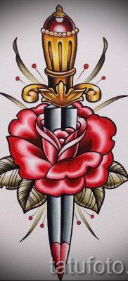 фото тату кинжал и роза пример для статьи про значение татуировки – tatufoto.ru – 32