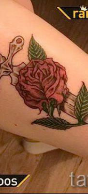 фото тату кинжал и роза пример для статьи про значение татуировки – tatufoto.ru – 33
