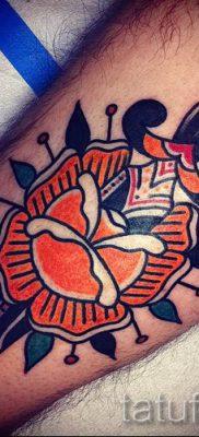 фото тату кинжал и роза пример для статьи про значение татуировки – tatufoto.ru – 53