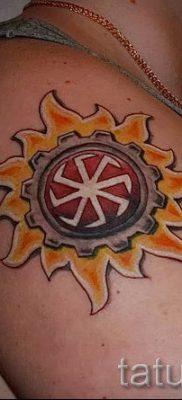 фото тату коловрат для статьи про значение татуировки коловрат – tatufoto.ru – 6
