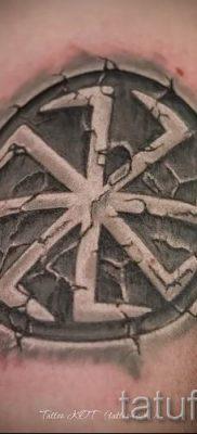 фото тату коловрат для статьи про значение татуировки коловрат – tatufoto.ru – 23