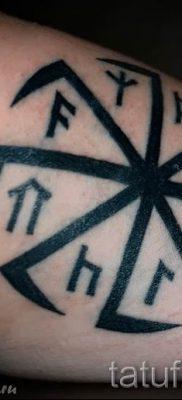 фото тату коловрат для статьи про значение татуировки коловрат – tatufoto.ru – 25