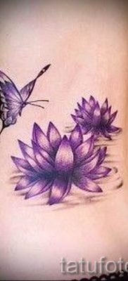 фото тату кувшинка для статьи про значение татуировки с кувшинкой – tatufoto.ru – 3