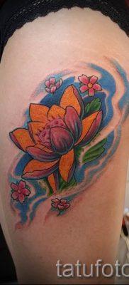 фото тату кувшинка для статьи про значение татуировки с кувшинкой – tatufoto.ru – 4