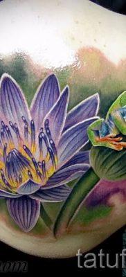 фото тату кувшинка для статьи про значение татуировки с кувшинкой – tatufoto.ru – 7