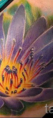 фото тату кувшинка для статьи про значение татуировки с кувшинкой – tatufoto.ru – 14