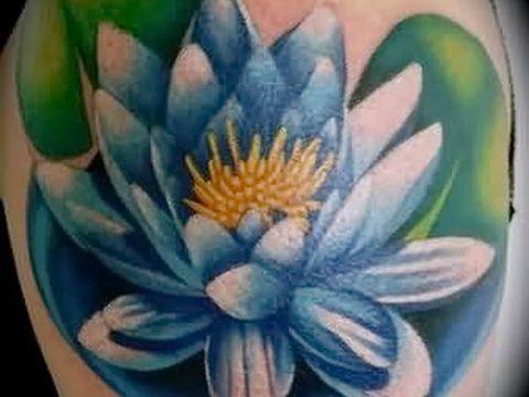 фото тату кувшинка для статьи про значение татуировки с кувшинкой - tatufoto.ru - 18
