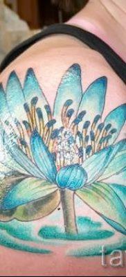 фото тату кувшинка для статьи про значение татуировки с кувшинкой – tatufoto.ru – 22