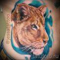 фото тату львица для статьи про значение татуировки львица - tatufoto.ru - 19