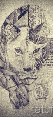 фото тату львица для статьи про значение татуировки львица – tatufoto.ru – 23
