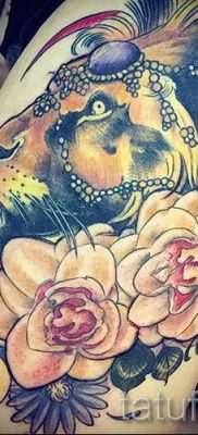 фото тату львица для статьи про значение татуировки львица – tatufoto.ru – 25