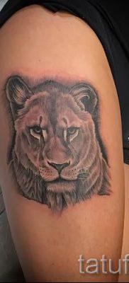 фото тату львица для статьи про значение татуировки львица – tatufoto.ru – 47