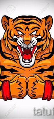 фото тату оскал тигра для статьи про значение татуировки с оскалом – tatufoto.ru – 5