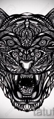 фото тату оскал тигра для статьи про значение татуировки с оскалом – tatufoto.ru – 6