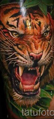 фото тату оскал тигра для статьи про значение татуировки с оскалом – tatufoto.ru – 19