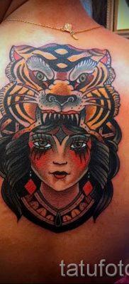 фото тату оскал тигра для статьи про значение татуировки с оскалом – tatufoto.ru – 24