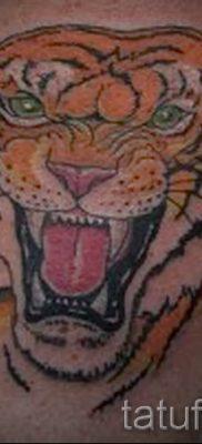 фото тату оскал тигра для статьи про значение татуировки с оскалом – tatufoto.ru – 25