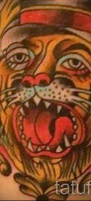 фото тату оскал тигра для статьи про значение татуировки с оскалом – tatufoto.ru – 26