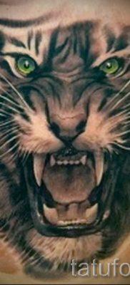 фото тату оскал тигра для статьи про значение татуировки с оскалом – tatufoto.ru – 29