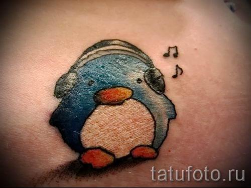 фото тату пингвин для статьи про значение татуировки пингвин - tatufoto.ru - 1