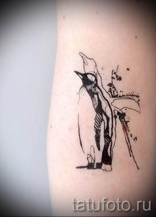 фото тату пингвин для статьи про значение татуировки пингвин - tatufoto.ru - 3