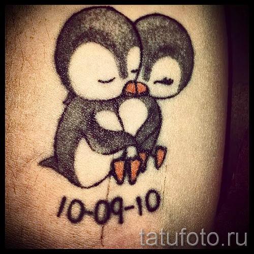 фото тату пингвин для статьи про значение татуировки пингвин - tatufoto.ru - 10