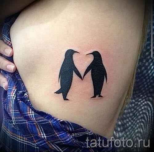 фото тату пингвин для статьи про значение татуировки пингвин - tatufoto.ru - 12