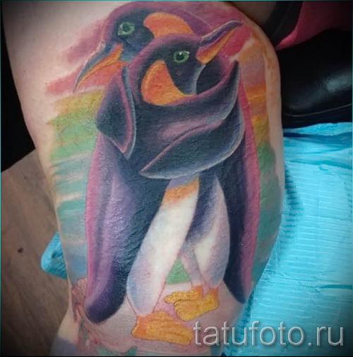 фото тату пингвин для статьи про значение татуировки пингвин - tatufoto.ru - 29