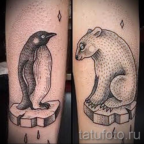фото тату пингвин для статьи про значение татуировки пингвин - tatufoto.ru - 30