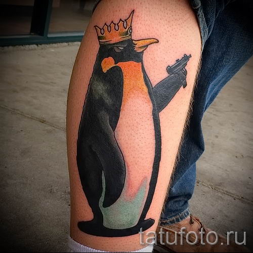 фото тату пингвин для статьи про значение татуировки пингвин - tatufoto.ru - 42