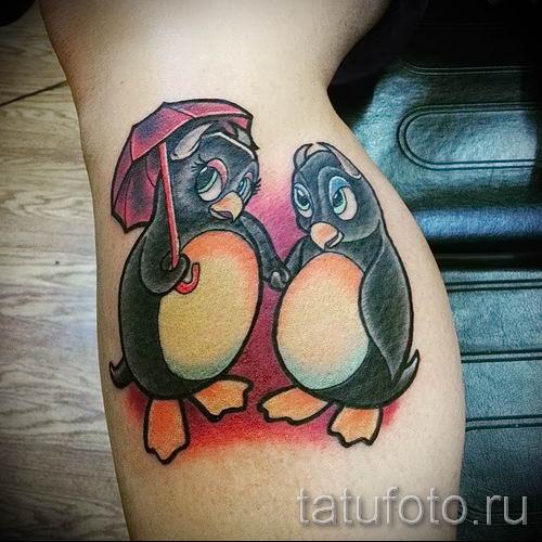 фото тату пингвин для статьи про значение татуировки пингвин - tatufoto.ru - 47
