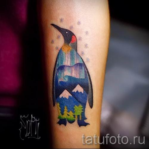 фото тату пингвин для статьи про значение татуировки пингвин - tatufoto.ru - 49