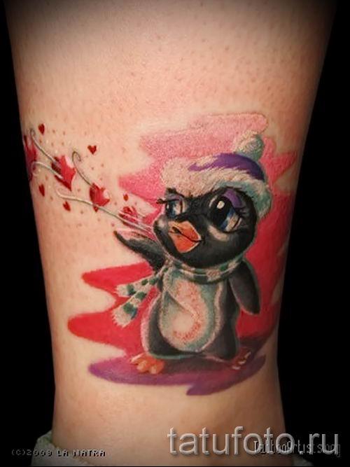 фото тату пингвин для статьи про значение татуировки пингвин - tatufoto.ru - 53