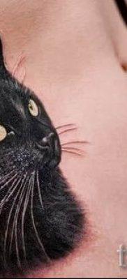 фото тату с черной кошкой для статьи про значение татуировки – tatufoto.ru – 9