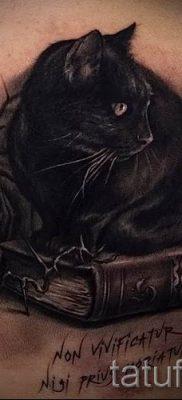 фото тату с черной кошкой для статьи про значение татуировки – tatufoto.ru – 17