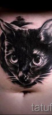 фото тату с черной кошкой для статьи про значение татуировки – tatufoto.ru – 20