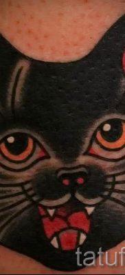 фото тату с черной кошкой для статьи про значение татуировки – tatufoto.ru – 51