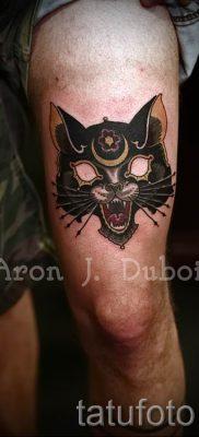 фото тату с черной кошкой для статьи про значение татуировки – tatufoto.ru – 53