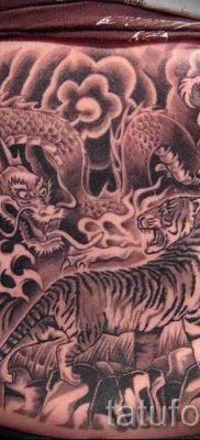 фото тату тигр и дракон для статьи про значение татуировки – tatufoto.ru – 16
