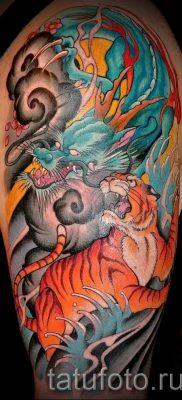 фото тату тигр и дракон для статьи про значение татуировки – tatufoto.ru – 25