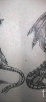 фото тату тигр и дракон для статьи про значение татуировки – tatufoto.ru – 40