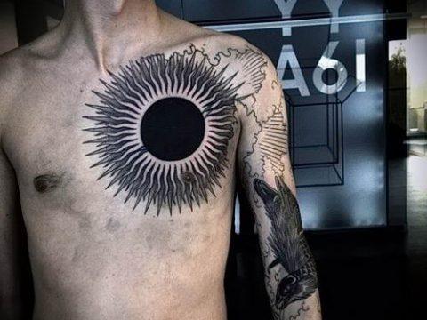 фото тату черное солнце для статьи про значение тату черное солнце - tatufoto.ru - 43