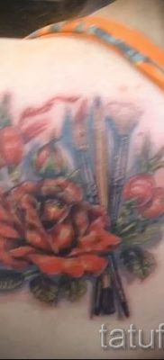 фото тату шиповник для статьи про значение татуировки шиповник – tatufoto.ru – 5