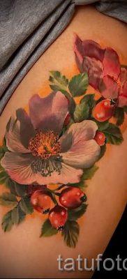 фото тату шиповник для статьи про значение татуировки шиповник – tatufoto.ru – 14