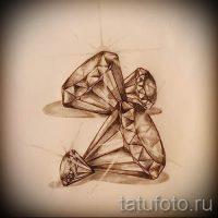 Эскизы тату бриллиант