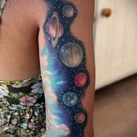 Значение тату планеты