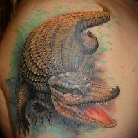 Значение тату крокодил