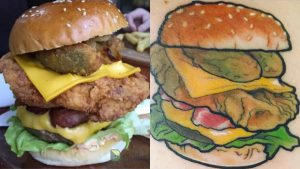 Бесплатная еда за тату с гамбургером - фото 2