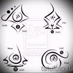 Необычные варианты эскизов для тату с иероглифом - крутые примеры рисунков