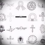 Необычные варианты эскизов для наколки с иероглифом - Прикольные примеры скетчей